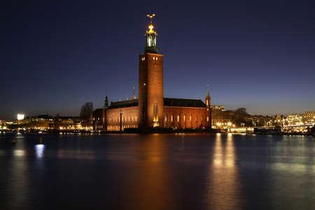 Rathaus von Stockholm in Stockholm. Schweden Standard-Bild - 40033144