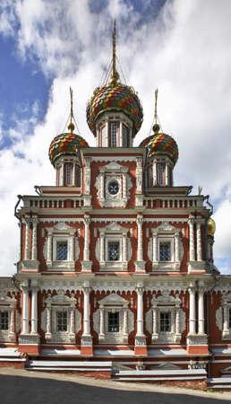 church of our lady: Church of the Nativity of Our Lady (Stroganov Church) in Nizhny Novgorod. Russia