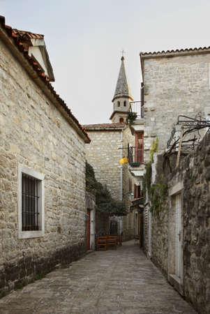 montenegro: Old town in Budva. Montenegro Stock Photo