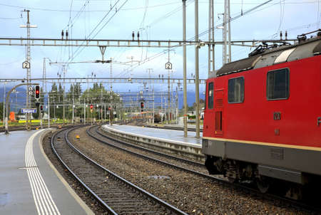 sargans: Railway station in Sargans. Switzerland