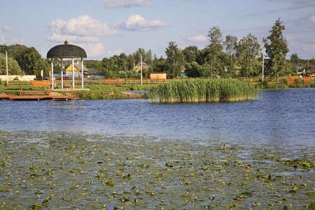 Lake in Hlybokaye. Belarus