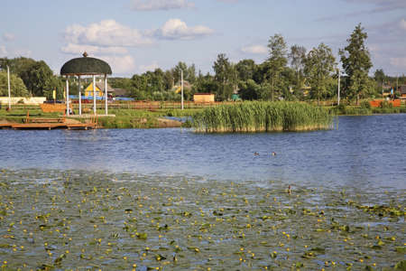 Lake in Hlybokaye. Belarus