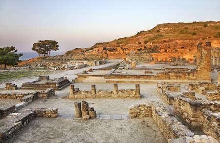 rhodes: Historic city in Kameiros. Rhodes island. Greece Stock Photo