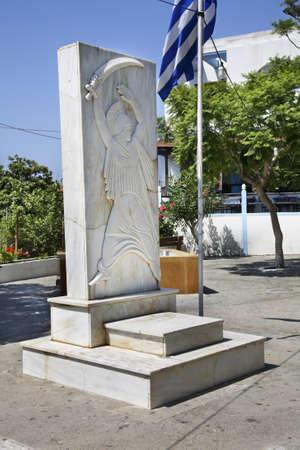 rhodes: Sculpture in Apollakia. Rhodes island. Greece