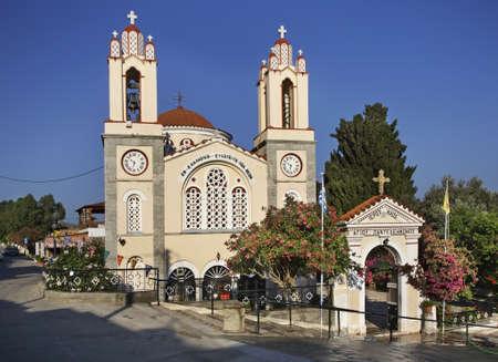 panteleimon: St. Panteleimon Church in Siana. Rhodes island. Greece Editorial