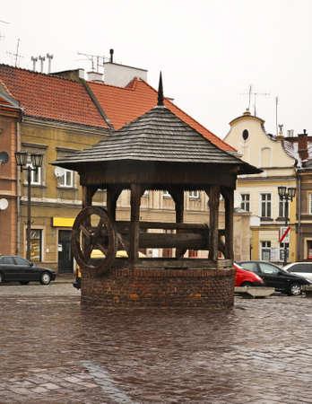 poland: Draw-well in Jaroslaw. Poland Editorial