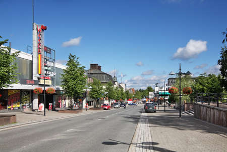 Main street in Lappeenranta. South Karelia. Finland