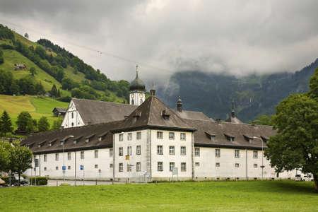 the abbey: Engelberg Abbey (Kloster Engelberg). Switzerland Editorial