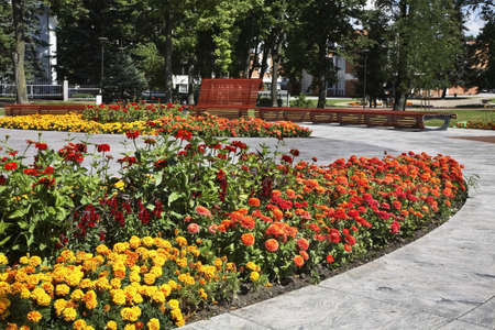 lithuania: Main park in Marijampole. Lithuania