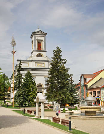 Lutheran Church on St. Egidius Square in Poprad. Slovakia