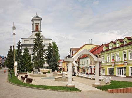 Lutheran Church on St. Egidius Square in Poprad. Slovakia