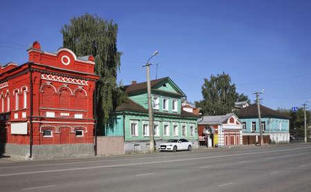 lenin: Lenin street in Kungur. Perm Krai. Russia Stock Photo