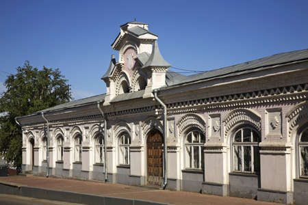 Small Gostiny Dvor market in Kungur. Perm Krai. Russia