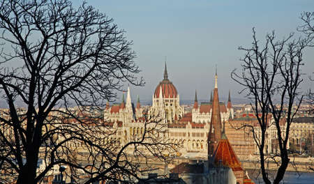 neogothic: Hungarian Parliament Building in Budapest. Hungary