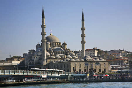 cami: New mosque Yeni Cami in Istanbul. Turkey Editorial
