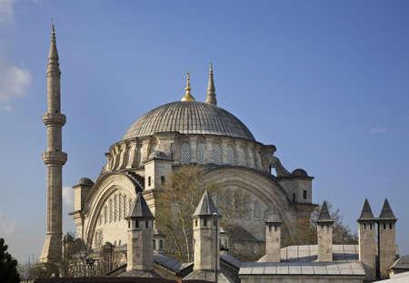 Nuruosmaniye Mosque in Istanbul. Turkey Stock Photo