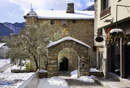 andorra: Casa de la Vall in Andorra la Vella. Andorra Editorial