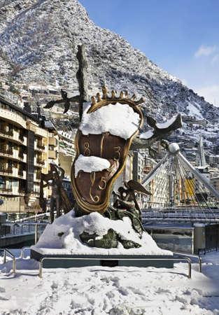 salvador dali: Salvador Dali sculpture, Nobility of Time in Andorra la Vella. Andorra