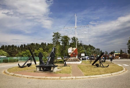 polska monument: Monument to the sailors in Wladysawowo. Poland