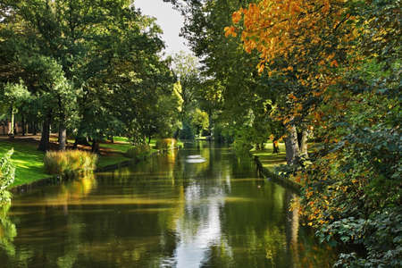 flanders: Canal in Bruges. Flanders. Belgium Stock Photo