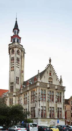 bruges: Tower in Bruges. Flanders. Belgium Editorial
