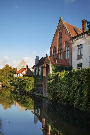 bruges: Canal in Bruges. Flanders. Belgium Stock Photo