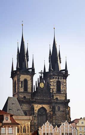 tyn: Church of Our Lady before Tyn in Prague. Czech Republic