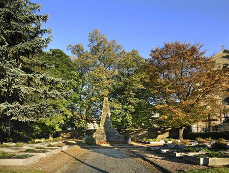 polska monument: Cemetery of Soviet soldiers in Krosno. Poland