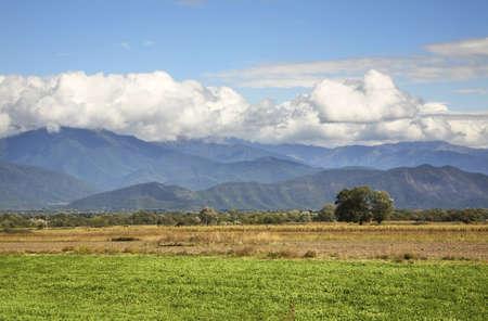 paysage: landscape near Alaverdi. Kakheti. Georgia