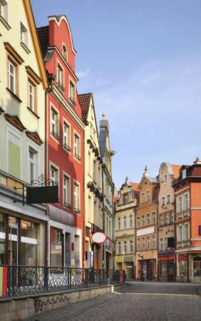gora: Old street in Jelenia gora. Poland Stock Photo