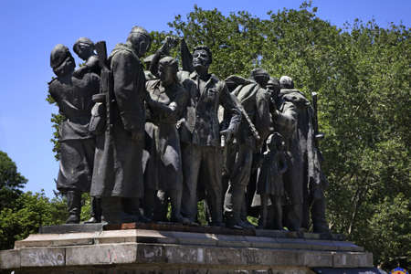 soviet: Monument to Soviet soldiers in Sofia. Bulgaria
