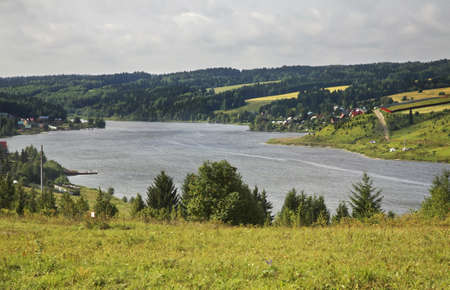 kama: Kama bay in Khokhlovka. Perm kra. Russia