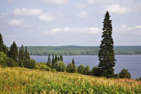 kama: Kama bay near Khokhlovka. Perm krai. Russia