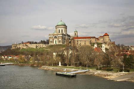 hungary: Esztergom panorama. Hungary Editorial