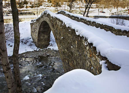 principality: Romanesque bridge in La Margineda. Principality of Andorra