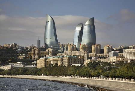 Seafront in Baku. Azerbaijan Editoriali