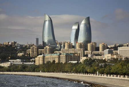 baku: Seafront in Baku. Azerbaijan Editorial