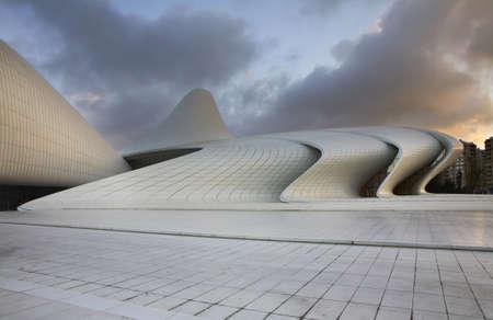 baku: Heydar Aliyev Center in Baku. Azerbaijan