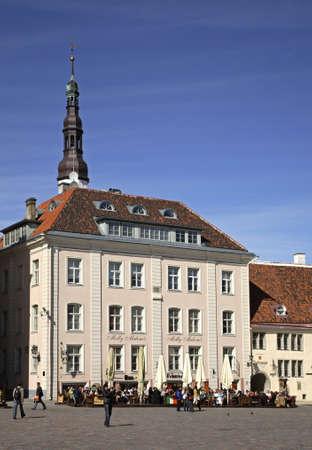 tallinn: Town hall square in Tallinn. Estonia Editorial