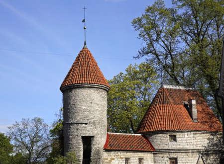 tallinn: City wall in Tallinn. Estonia Editorial