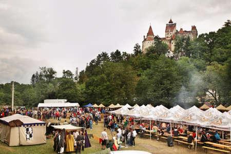 bran: Celebration near Bran Castle of Dracula. Romania