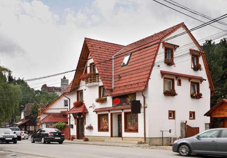 bran: Street in Bran. Romania Editorial