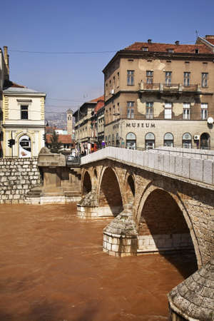sarajevo: Latin Bridge in Sarajevo. Bosnia and Herzegovina