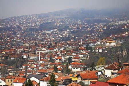 sarajevo: Panoramic view of Sarajevo. Bosnia and Herzegovina Stock Photo