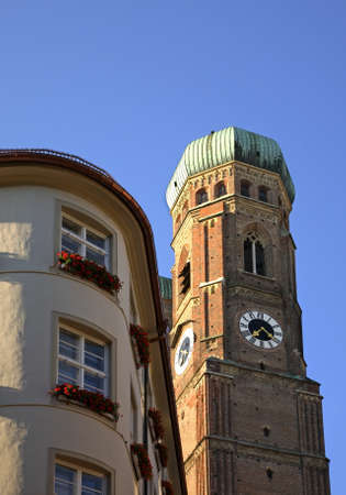 frauenkirche: Cathedral of Our Dear Lady - Frauenkirche in Munich. Germany