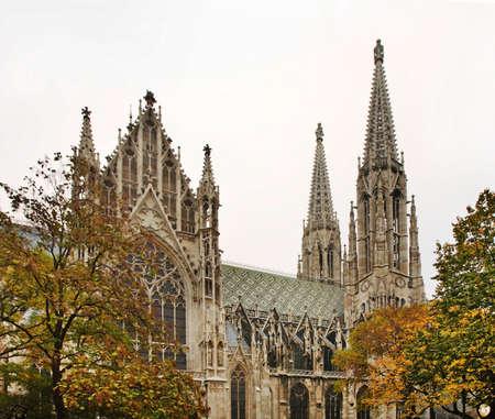 votive: Votive Church Votivkirche in Vienna. Austria Stock Photo
