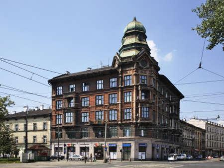 krakow: Street in Krakow. Poland Editorial