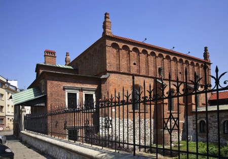 kazimierz: Renaissance Old Synagogue in Kazimierz. Krakow. Poland