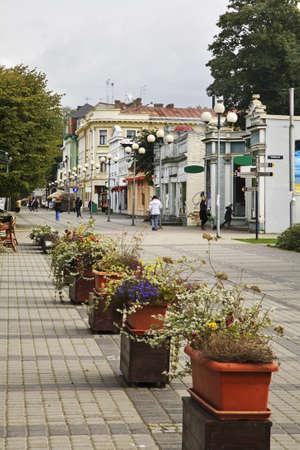jurmala: Jomas street in Jurmala. Latvia