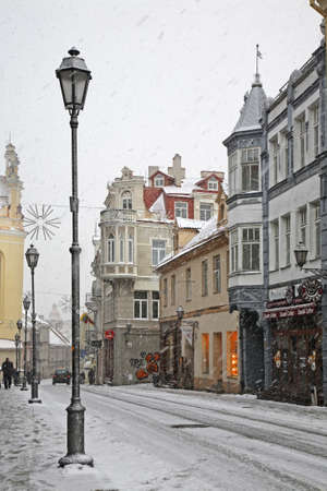 lithuania: Pilies street in Vilnius. Lithuania